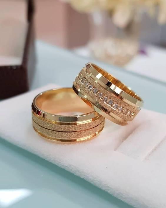 مدل حلقه ازدواج های ست در انواع سفید و زرد + تصاویر